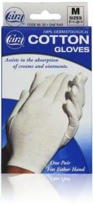 1. Dermatological cotton gloves - medium