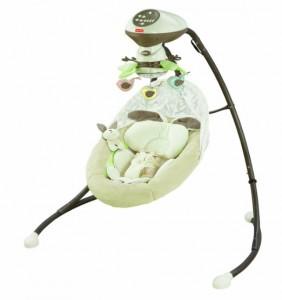 1.Fisher Price Snugabuny Cradle Swing