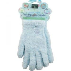 7. Earth Therapeutics Aloe Moisture Gloves, Ultra Plush Blue, 1 Pair