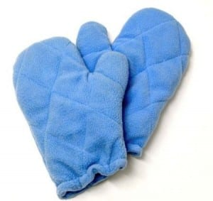 8. Microwaveable Buckwheat Heat Therapy Mitts