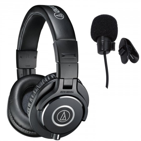 10. Audio-Technica ATH-M40x Professional Studio Monitor Headphones Deluxe Bundle