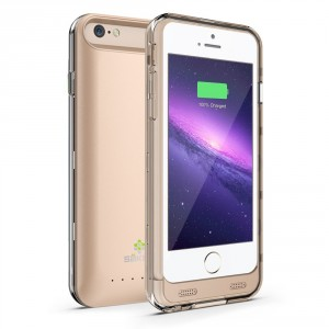 10. IPhone 6 Battery Case Gold Sakra