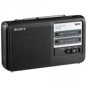 2. Sony ICF38 Portable AM:FM Radio