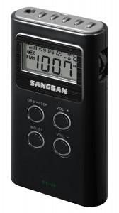 8. Sangean DT-180 AM:FM Personal Pocket Radio
