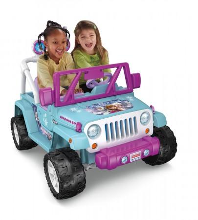 10. Power Wheels Disney Frozen Jeep Wrangler