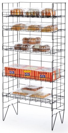 10.Displays2Go 5 Shelf Bakers Storage Rack