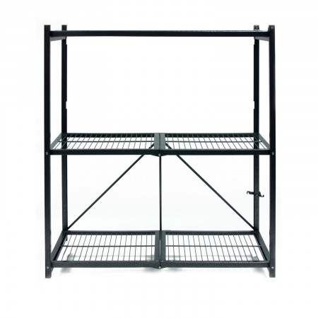 2.Origami General Purpose 3-Shelf Steel Collapsible Storage Rack
