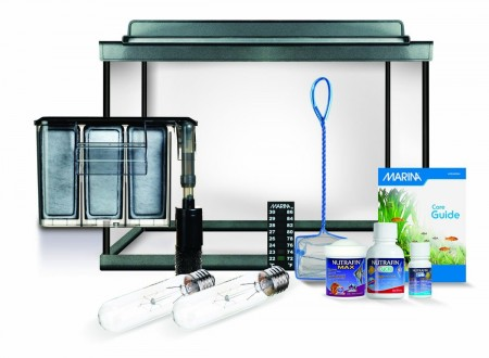 3. Marina Style Deluxe Glass Aquarium Kit