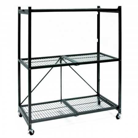 6.Origami General Purpose 3-Shelf Steel Collapsible Storage Steel