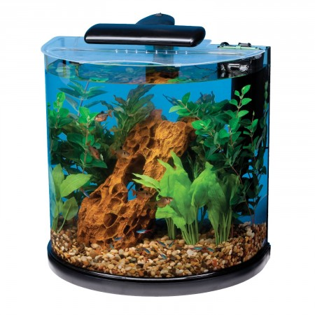 7. Tetra 29234 Half Moon Aquarium Kit, 10-Gallon
