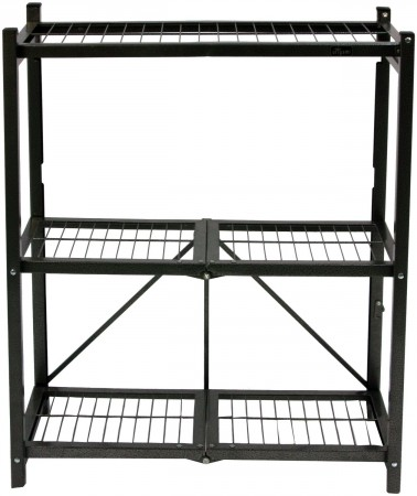 9.Origami General Purpose 3-Shelf Steel Collapsible Storage Rack