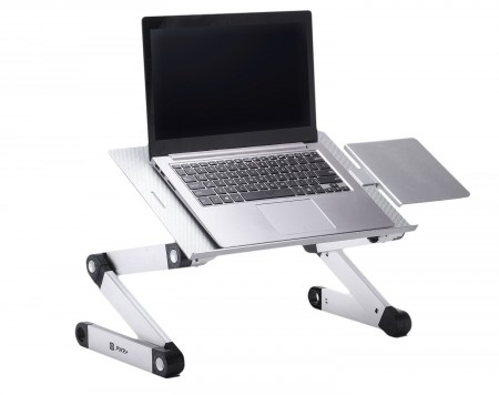 4. Portable Laptop-Table-Stand with Mouse Pad Fully Adjustable