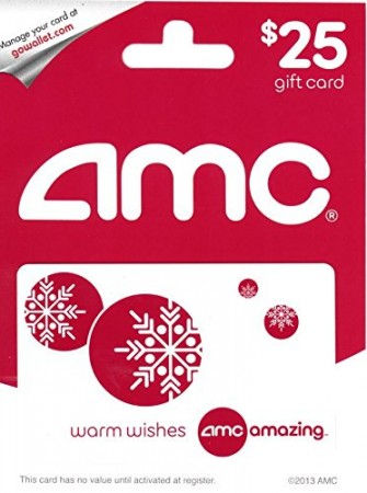 7.AMC Theatre Gift Card