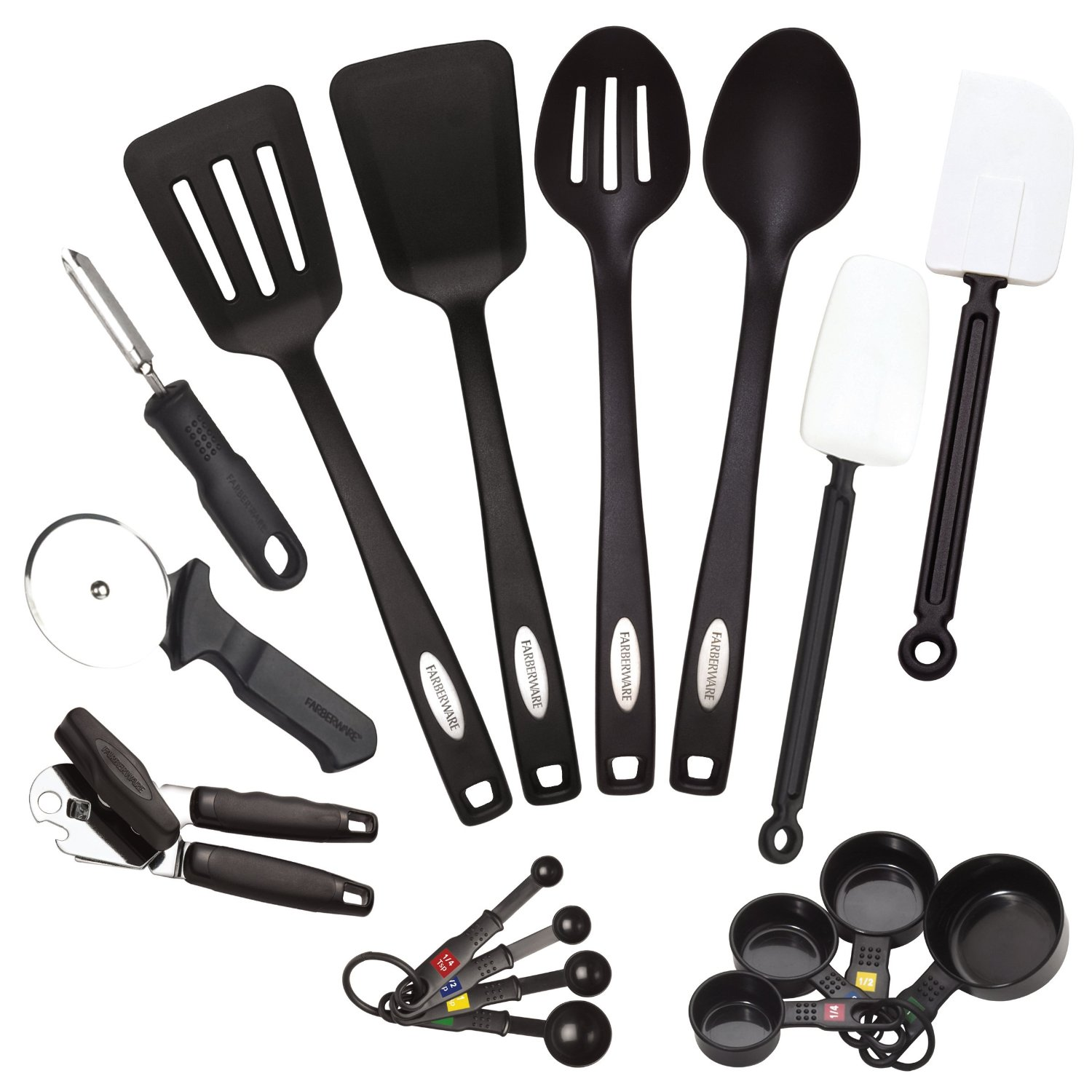 Black Kitchen Utensil Set