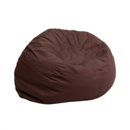Flash Furniture Small Solid Brown Bean Bag Chair - The Best Bean Bag Chairs Under 100$ Review In 2017 - Top 10 Review Of