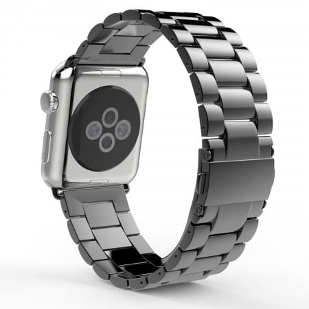 6.MoKo Stainless Steel Metal Replacement Smart Watch Band Bracelet