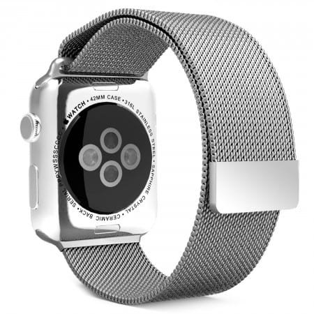 8.Moko Milanese Loop Stainless Steel Bracelet Smart Watch Strap