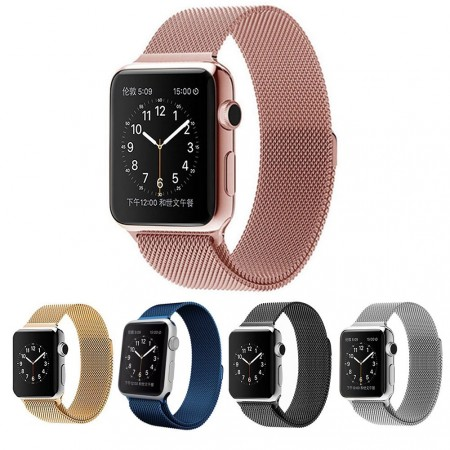 9.Apple Watch Band, Teslaz 38mm Mesh Replacement Strap Stainless