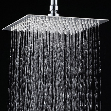 7. YAWALL 12 inches Ultra-slim Stainless Steel Shower Rain Head