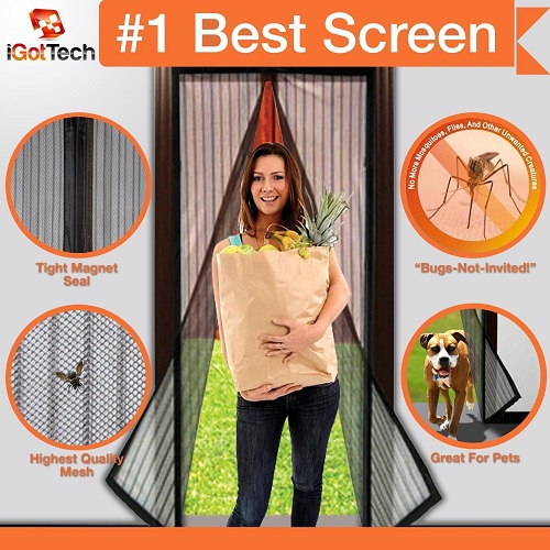 Magnetic Screen Door, Full Frame Velcro