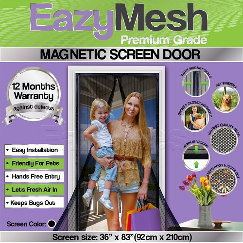 Quality Magnetic Screen Door by EazyMesh